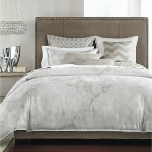 Hotel Collection Interlattice Gray Duvet Cover F/Q